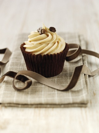 Coffee bean cupcake