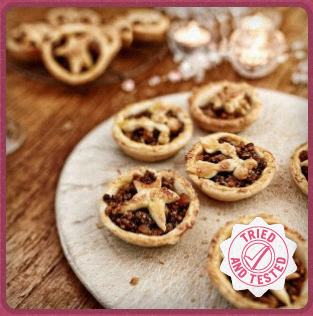 Luxury Star & Holly Mince pies